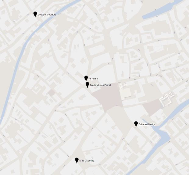 Vijf interieurwinkels in Brugge