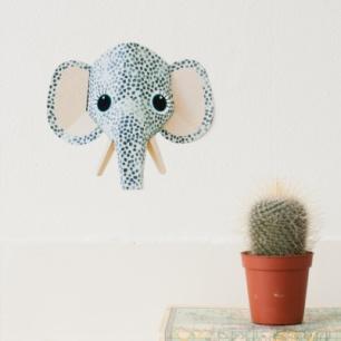 olifant muursticker spots