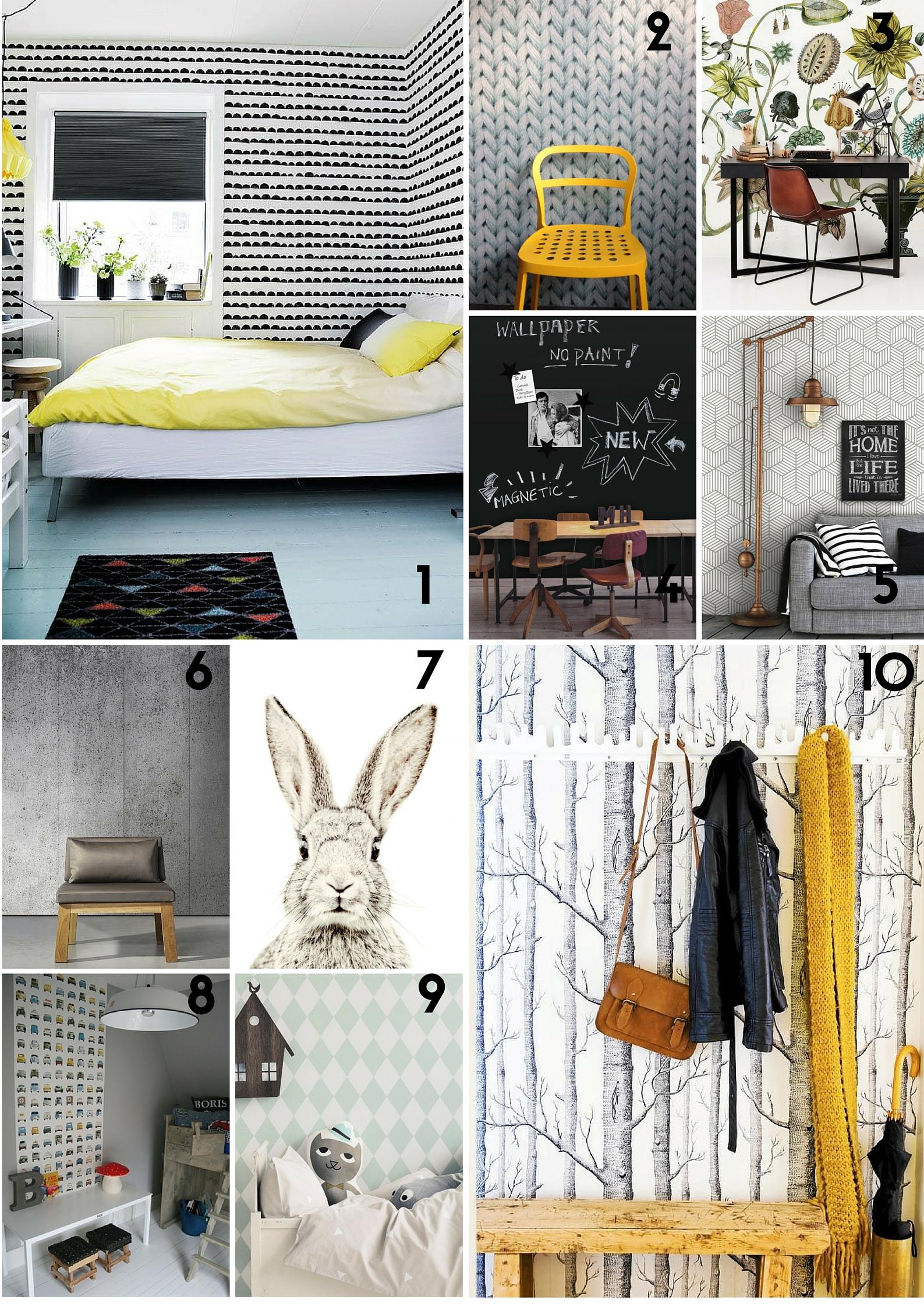 Top 10 behang